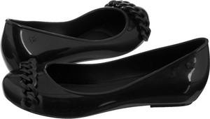 Czarne baleriny Zaxy w stylu casual z płaską podeszwą