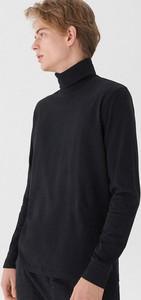 Czarna koszulka z długim rękawem House w stylu casual