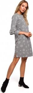Sukienka MOE z bawełny z długim rękawem mini
