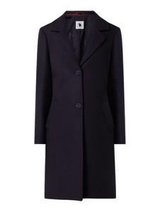 Granatowy płaszcz S.Oliver Red Label w stylu casual z wełny