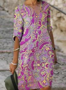 Sukienka Cikelly z dekoltem w kształcie litery v mini z długim rękawem