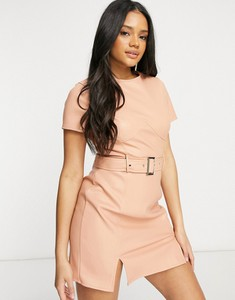 Sukienka Missguided mini z krótkim rękawem