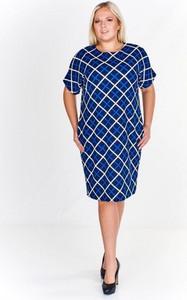 6f402e976f sukienki na lato dla puszystych. Niebieska sukienka Fokus midi