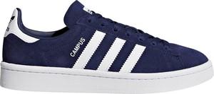 Niebieskie trampki Adidas sznurowane z płaską podeszwą