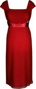 Sukienka Fokus midi w stylu klasycznym z szyfonu