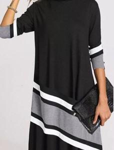 Czarna sukienka Kendallme w stylu casual maxi asymetryczna