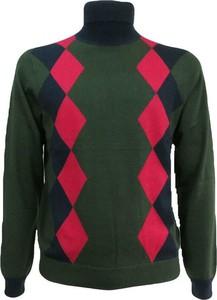 Zielony sweter Sun 68 z wełny