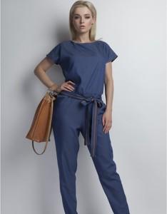 Niebieski kombinezon Lanti z jeansu