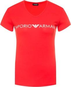 T-shirt Armani (wszystkie Linie) z bawełny z krótkim rękawem