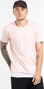 Różowy t-shirt BREEZY z bawełny