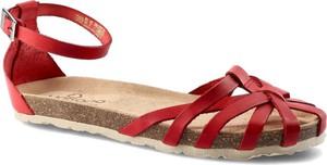 Czerwone sandały Yokono ze skóry w stylu casual
