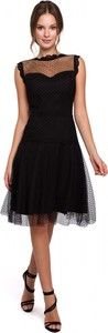 Sukienka Makover mini bez rękawów rozkloszowana