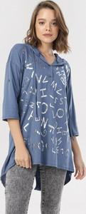 Niebieska bluzka born2be