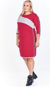 Sukienka Fokus z okrągłym dekoltem midi oversize