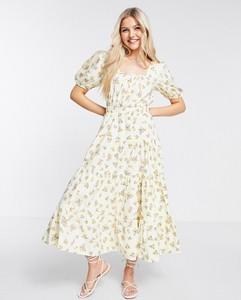 Sukienka Asos z krótkim rękawem maxi