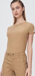 Brązowa bluzka Sinsay w stylu casual