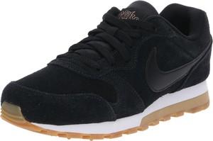 Czarne buty sportowe Nike Sportswear sznurowane w sportowym stylu ze skóry