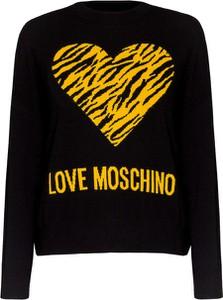Czarny sweter Love Moschino z wełny