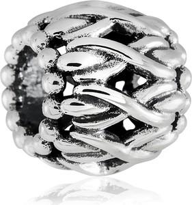 Murrano charms koralik srebrny kłębek wełny
