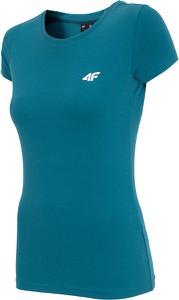 Niebieski t-shirt 4F z bawełny