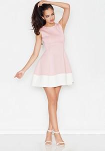 094c917294 Sukienka Figl rozkloszowana z okrągłym dekoltem bez rękawów