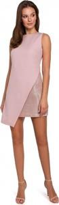 Sukienka Makover z tkaniny mini bez rękawów