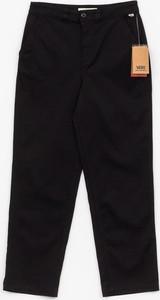 Czarne spodnie Vans z bawełny w stylu casual