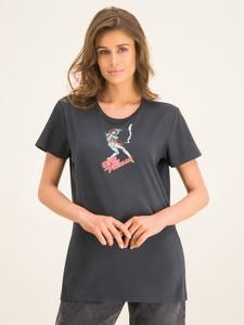 T-shirt Pinko w stylu casual z okrągłym dekoltem z nadrukiem