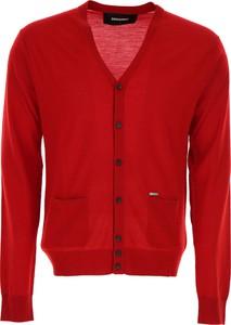 Czerwony sweter Dsquared2 z wełny