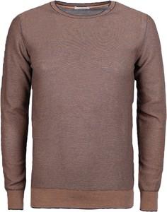 Brązowy sweter Paolo Pecora z tkaniny