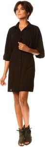 Czarna sukienka Scarlet Jones w stylu casual z długim rękawem