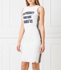 Sukienka Superdry bez rękawów z okrągłym dekoltem