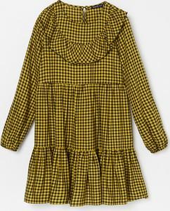Zielona sukienka dziewczęca Reserved w krateczkę