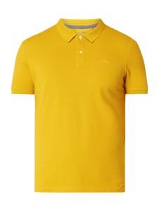 Żółta koszulka polo S.Oliver Red Label z krótkim rękawem