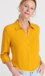 Żółta koszula Reserved z kołnierzykiem w stylu casual