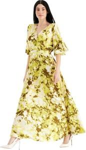 Sukienka Rinascimento maxi w stylu boho z dekoltem w kształcie litery v