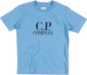 Niebieska koszulka dziecięca C.P. Company z krótkim rękawem dla chłopców