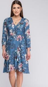 Sukienka Semper kopertowa w stylu casual z dekoltem w kształcie litery v