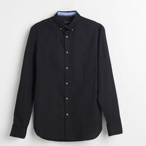 Czarna koszula Reserved z bawełny z długim rękawem