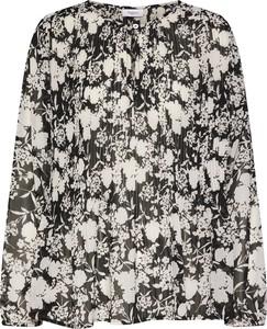Czarna bluzka Saint Tropez z długim rękawem z dekoltem typu choker