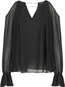 Czarna bluzka Guess Jeans z dekoltem w kształcie litery v
