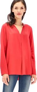 Czerwona bluzka POTIS & VERSO z długim rękawem