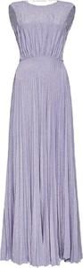 Fioletowa sukienka Elisabetta Franchi bez rękawów