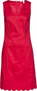 Sukienka bonprix ołówkowa z okrągłym dekoltem bez rękawów