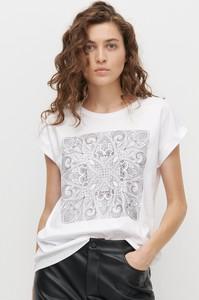 T-shirt Reserved z krótkim rękawem w stylu casual z okrągłym dekoltem