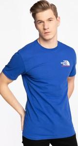 Niebieski t-shirt The North Face w sportowym stylu