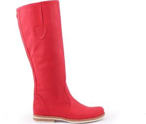 Zapato kozaki - skóra naturalna - model 127 - kolor czerwony