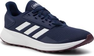 Niebieskie buty sportowe Adidas duramo sznurowane