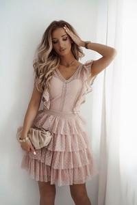 Sukienka Shopaholics Dream z dekoltem w kształcie litery v z tiulu