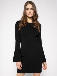 Czarna sukienka Patrizia Pepe mini z długim rękawem